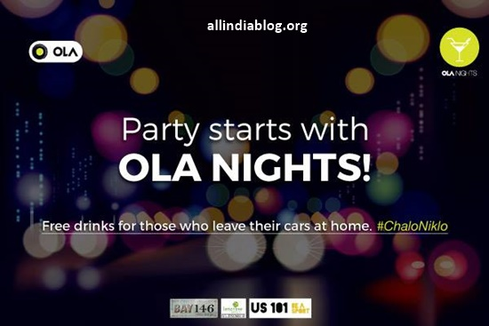 Get Free drinks with OLA Nights In Chennai