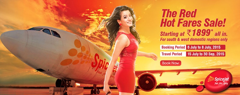 SpiceJet announces 'Red Hot Fares Sale' Flight Ticker Prices From ₹ 1899/-