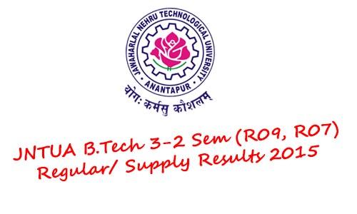 jntua 3-2 sem results 2015