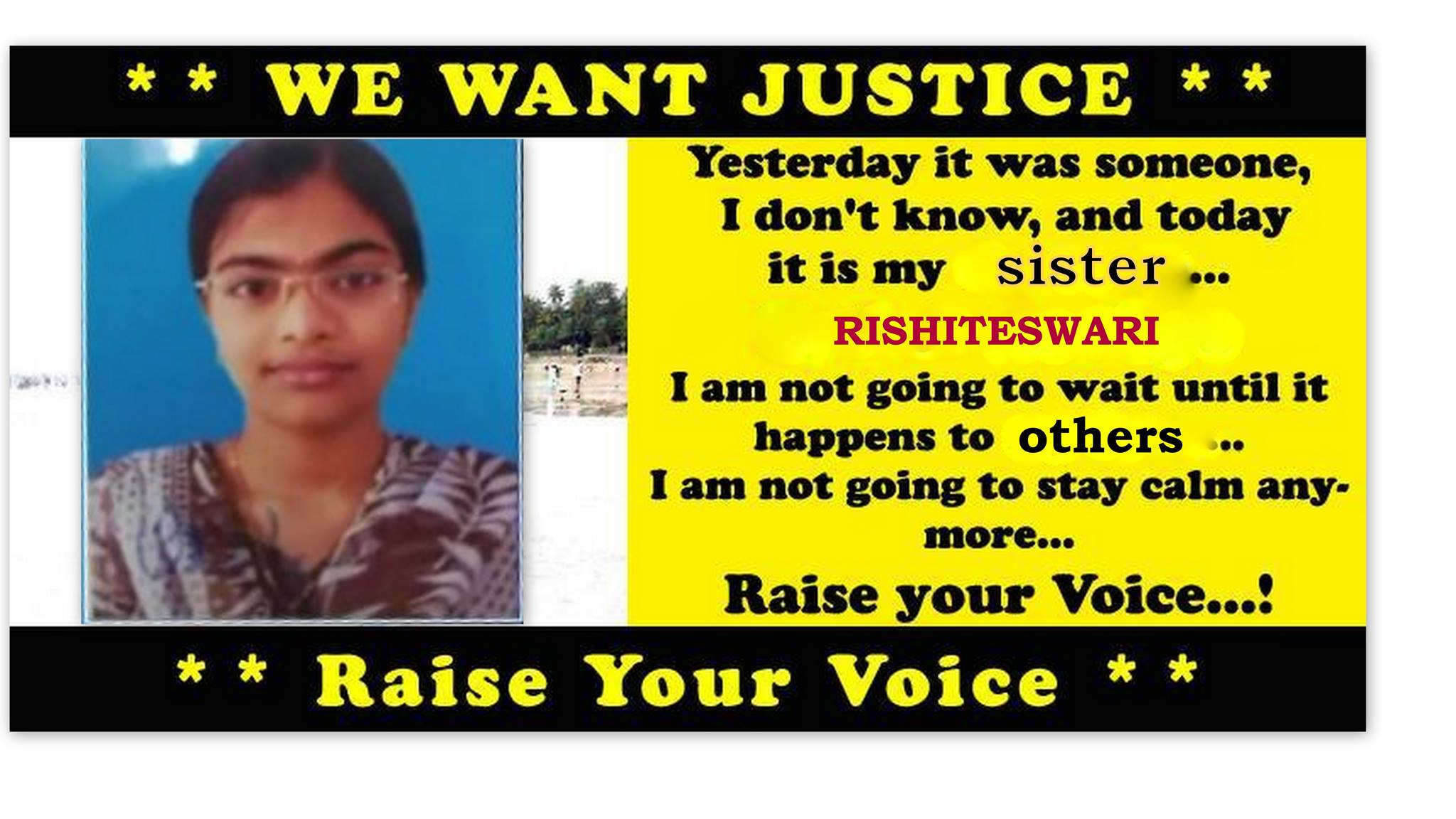Rishiteswari's Death is a Suicide? or a Murder?