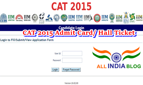 IIM CAT 2015 Admit Card/ Hall Ticket Download iimcat.ac.in