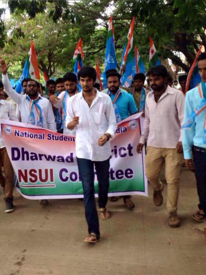 NSUI Dharwad District president ' Anish' Died in Road Accident