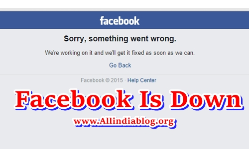 Facebook is Down For Second Time in a Week - FB Down