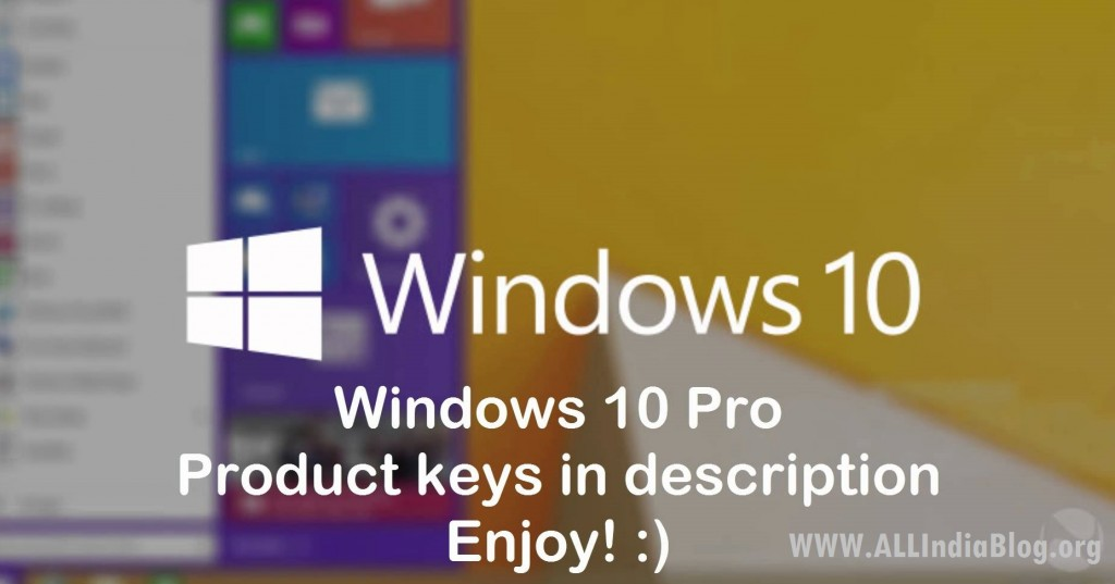 Windows 10 free serial keys