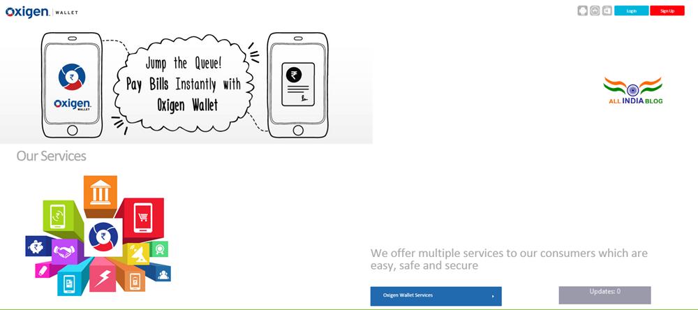 oxigenwallet.com home page look