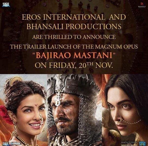 Bajirao Mastani Movie Trailer Download - Ranveer Singh, Deepika Padukone