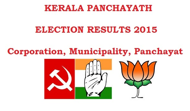 Kerala Local body Election Results 2015 Counting Winners Live Streaming Updates