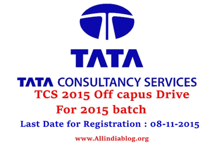 TCS Off-Campus Drive 2015 Registration to Apply Here For TCS Jobs
