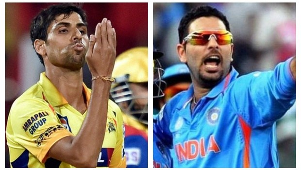 Back In India squad Yuvraj Singh and Pacer Ashish Nehra