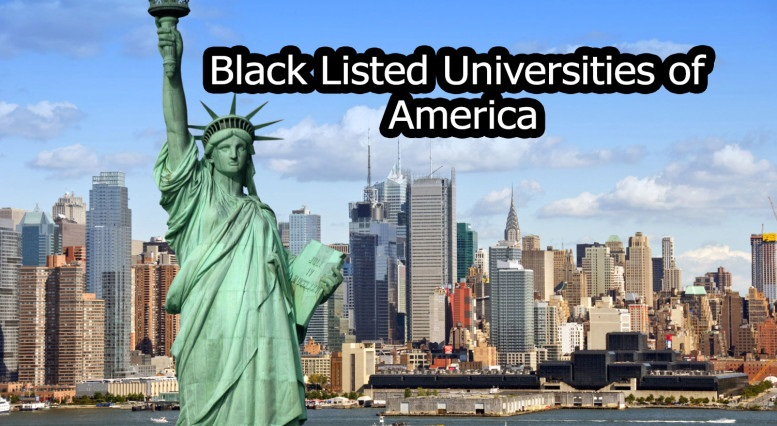 USA Black Listed Universities List