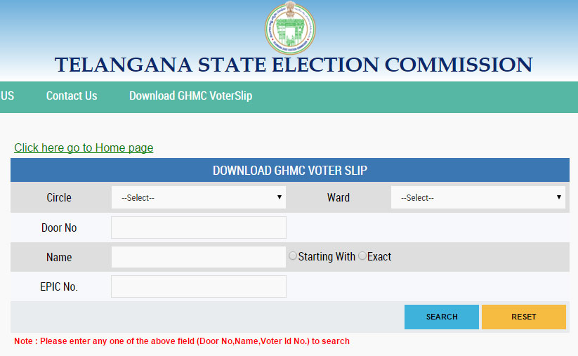 GHMC Elections 2016 Voter Slips Download