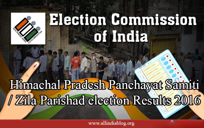 Himachal Pradesh Panchayat Samiti / Zila Parishad election Results 2016