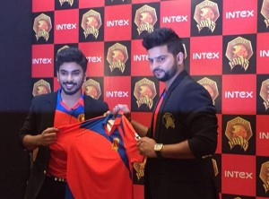 Suresh Raina launched Gujarat Lions Official jersey for IPL 2016