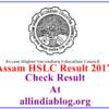 Assam HSLC Result 2017