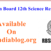 Rajasthan Board 12th Science Results 2017