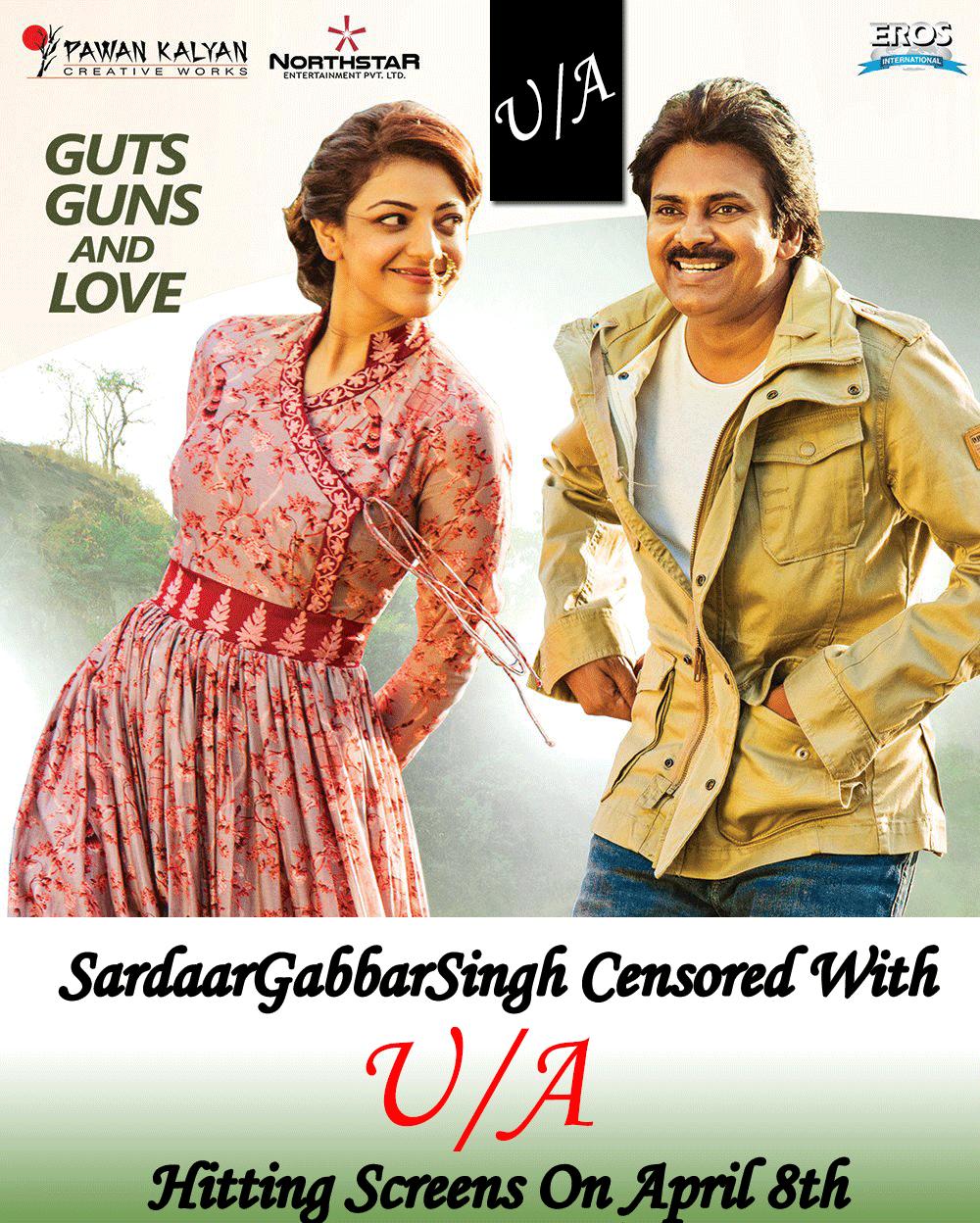 Sardaar Gabbar Singh Movie gets Censored with U/A Certificate