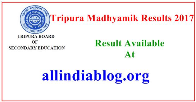 Tripura Madhyamik Results 2017