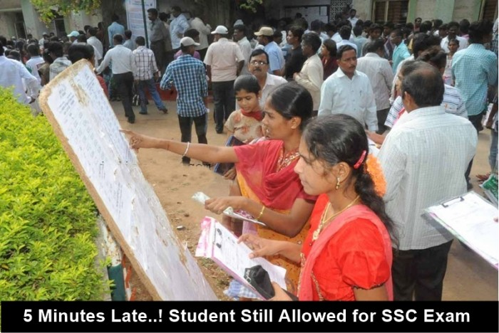 Ts ssc board decided to allow students even they are 5 Min Late