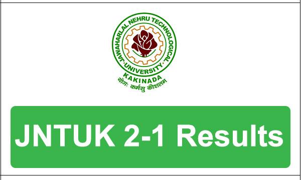 JNTUK 2-1 supply results 2017