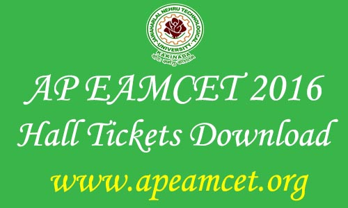 AP EAMCET 2016 Hall Tickets Download