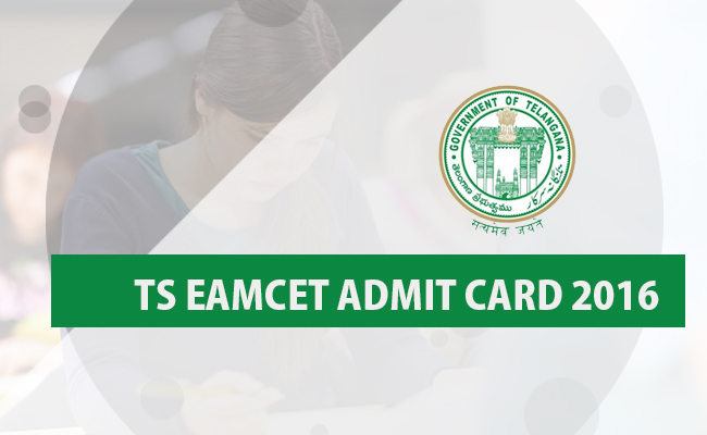 Telangana EAMCET 2016 Hall Ticket Download