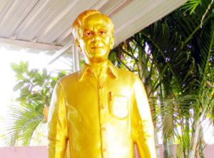 Chandra Sekhar Rao Statue at Kaleswaram