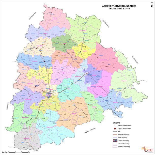 Telangana New Districts Map
