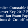 AP Police Constable 2017 Answer Key For 22nd Jan Exam (All Sets) @recruitment.appolice.gov.in