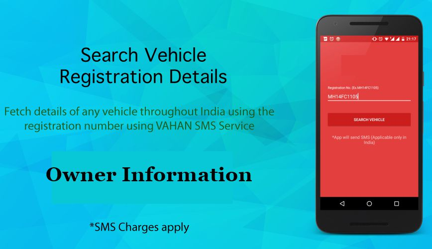 Vehicle Registration Details through SMS