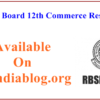 Rajasthan Board 12th Commerce Results 2017